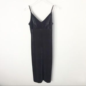Zara Embossed Maxi Velvet Dress in Sz S